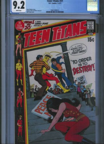 Teen Titans # 31 CGC 9.2  White Pages. UnRestored