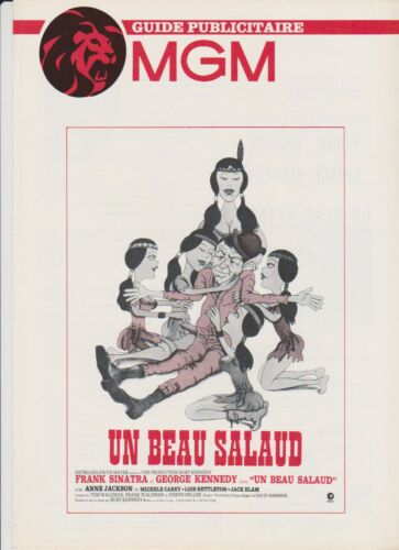 FRANK SINATRA BURT KENNEDY pressbook MGM The Ballad of Dingus Magee