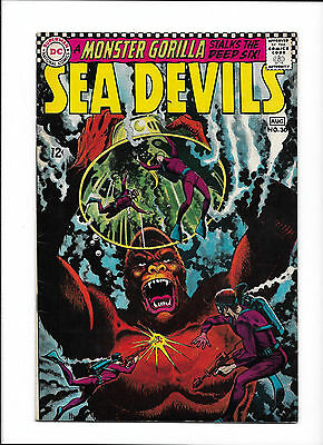 "SEA DEVILS #30  [1966 VG-FN]  ""A MONSTER GORILLA STALKS THE DEEP SIX!"""