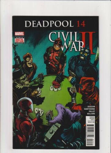 Deadpool #14 NM- 9.2 Marvel Comics Civil War II 2016