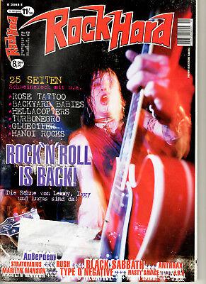 ROCK HARD 138 11/1998 TURBONEGRO RUSH ANTHRAX BLACK SABBATH TANK MARILYN MANSON