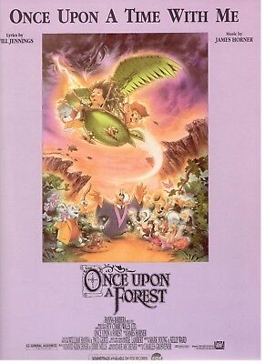 """ONCE UPON A TIME WITH ME"" SHEET MUSIC-ONCE UPON A FOREST-PIANO/VOCAL/CHORDS-NEW"