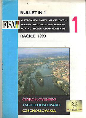 Rudern Weltmeisterschaft RACICE (CSSR) 1993  !!  SELTEN (Welt Bulletin)