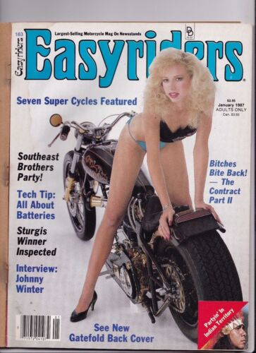 Easyriders Motorcycle Magazine JANUARY 1987 JAN