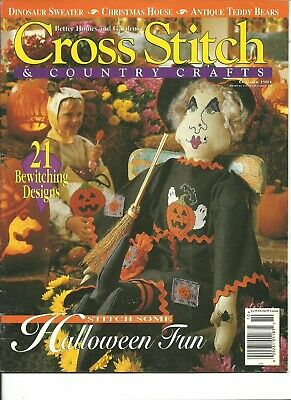 October Halloween Crafts (BHG Cross Stitch & Country Crafts Magazine October 1994 Halloween)