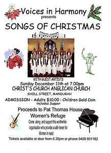 SONGS OF CHRISTMAS WITH VOICES IN HARMONY - MANDURAH Mandurah Mandurah Area Preview