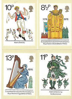 GREAT BRITAIN - PHQ CARDS - BR. CULTURE - 1976 - COMPLETE SET MINT