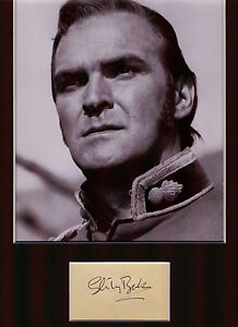 STANLEY-BAKER-LT-JOHN-CHARD-R-E-ZULU-AUTHENTIC-SIGNED-AUTOGRAPH-DISPLAY-UACC