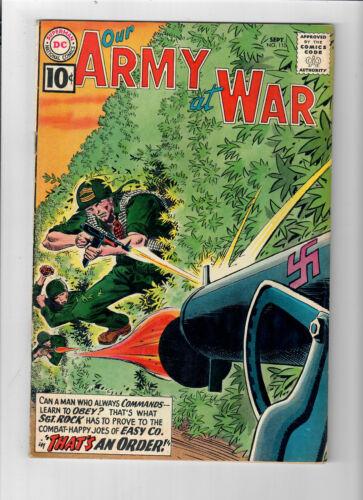 OUR ARMY AT WAR #110 - Grade 6.0 - Joe Kubert art! Sgt. Rock!