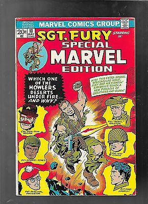 Special Marvel Edition 10 1973 Sgt. Fury vg-fine 5.0 FREE ship USA