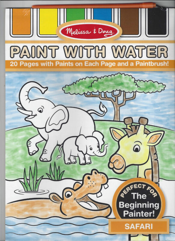 Melissa & Doug Paint With Water- Safari #3175- New