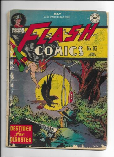 FLASH COMICS #83 ==> FA/GD GOLDEN AGE HAWKMAN COVER DC COMICS 1947