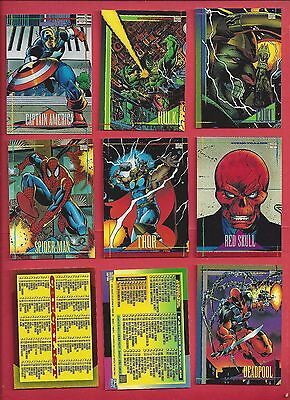 1993 SKYBOX Marvel Universe series IV 4 Complete Your Set U pick 8 cards NM to M
