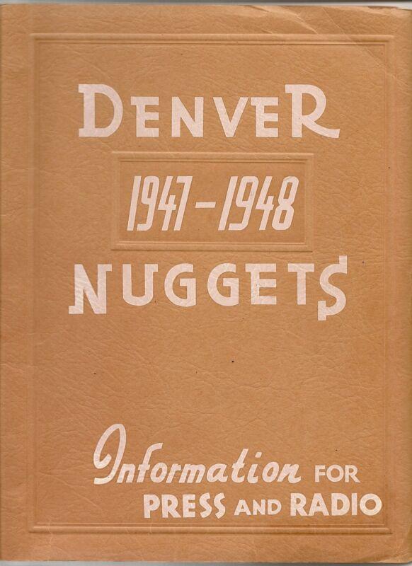 1947-48 Denver Nuggets ABL Media Guide Rare NICE!!