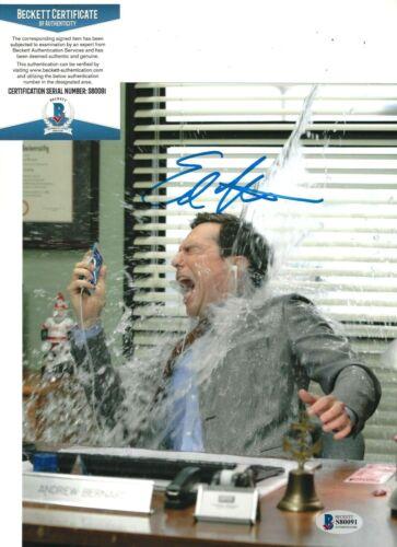 ED HELMS SIGNED 'THE OFFICE' ANDY BERNARD 8x10 PHOTO 2 ACTOR BECKETT COA BAS