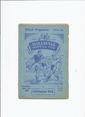 Millwall v Colchester United 26 March 1955