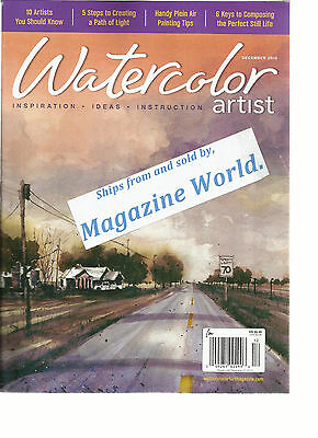 WATER COLOR ARTIST MAGAZINE, DECEMBER, 2015 ( INSPIRATION * IDEAS * IN STRUCTION