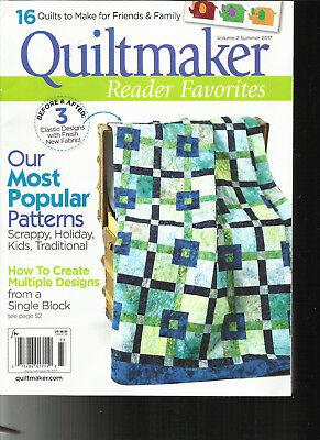 QUILTMAKER MAGAZINE, OUR MOST POPULAR PATTERNS    SUMMER, 2017    VOLUME. 2  - Most Popular Magazines