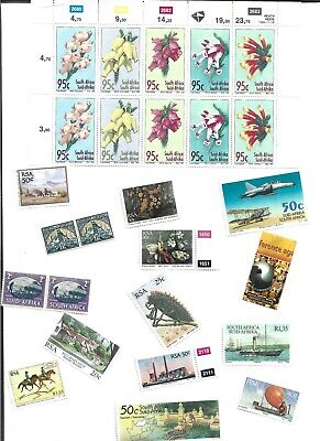 BIG LOT OF UNMOUNTED MINT STAMPS FROM SOUTH AFRICA ( 500 )