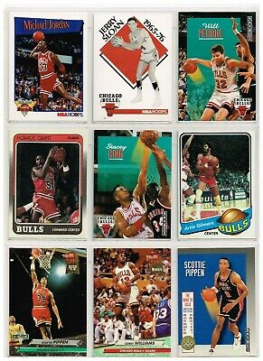 LOT OF 27 CHICAGO BULLS  Basketball Cards FROM DIFFERENT YEARS IN EXC-NMT](Basketballs In Bulk)
