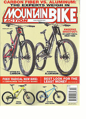 MOUNTAIN BIKE ACTION, FEBRUARY, 2016 (CARBON FIBER vs ALUMINUM* THE EXPERT WEIGT Mountain Bike Action Magazine