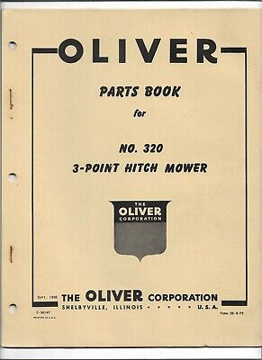 Original Oliver 320 3-point Hitch Mower Parts Catalog Form S5-9-p2 Dated 091956