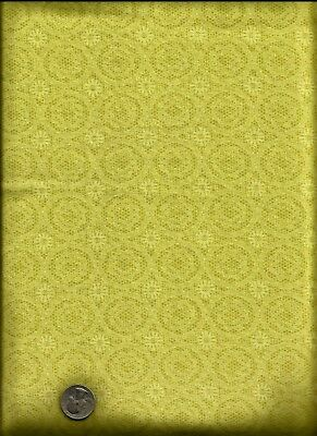 """""""Jet Jacobean""""  TOT Lacy Floral Print Yellowish with a touch of green Fabric , used for sale  Shipping to Canada"""