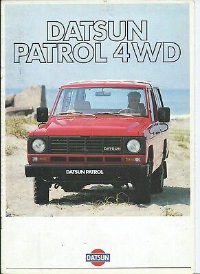 Datsun Nissan Patrol 4WD 1983 Original Brochure Depliant French Language