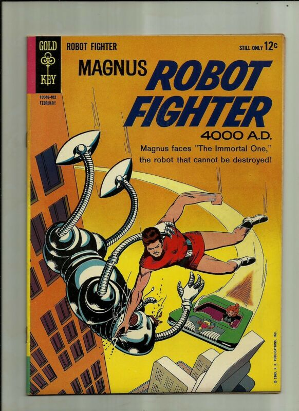 MAGNUS ROBOT FIGHTER #5 1964  GOLD KEY SILVER AGE COMICS  FN/VF