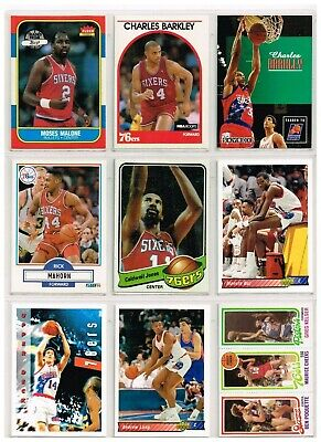LOT OF 27 PHILADELPHIA 76ers  Basketball Cards FROM DIFFERENT YEARS IN EXC-NMT](Basketballs In Bulk)