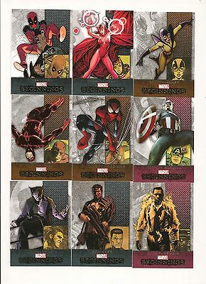 Marvel Beginnings Series 3  Complete Set ( 180 Cards )