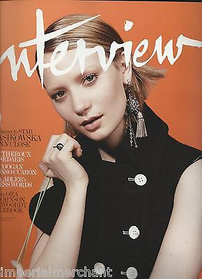 Interview Magazine Mia Wasikowska Justin Theroux Steve Coogan Renata Adler