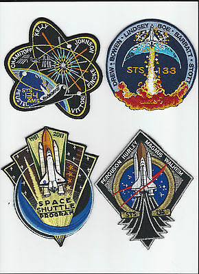 Final Nasa Space Shuttle Mission Patch Set Discovery Endeavour Atlantis Sts 135