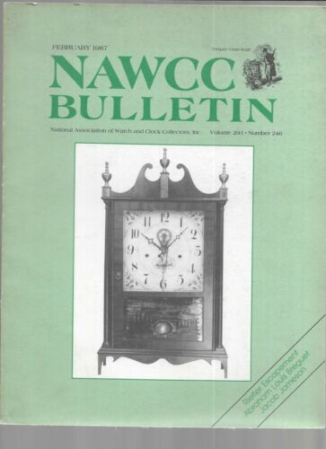 NAWCC BULLETIN-NATL ASSOC. OF WATCH & CLOCK COLLECTING-FEB. 1987