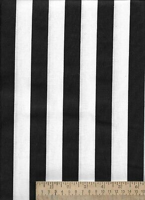 """Black White Stripe 1"""" referee sports halloween cotton quilt face mask Fabric"""