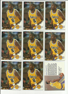 9 Kobe Bryant 1996 NBA Hoops #281 RC Lot Lakers Rookie **Free Combined**