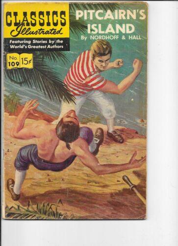 Classics Illustrated  #109 hrn 165  Pitcairn
