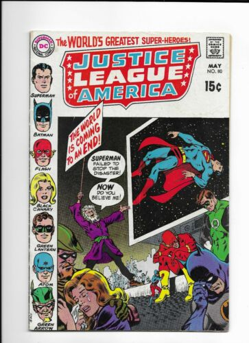 Justice League of America #80 Bronze Age May 1970