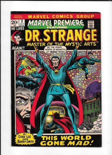 MARVEL PREMIERE #3 ==> VF 1ST DR. STRANGE SERIES BEGINS MARVEL COMICS 1972
