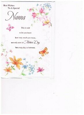 BEST WISHES to a  Special Nanna on Mother's Day Greetings Card. (Best Greetings On Mother's Day)