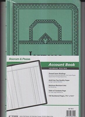 Boorum Pease Account Book Journal Ruling New Sealed 66-150-j