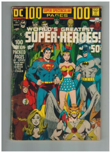 DC 100 page Super Spectacular 6  Neal Adams Wraparound Cover 1971 Good DC Comic