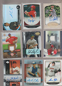 (9) Card Baseball Autograph 7 Auto 2 Game Used Jersey Lot Rookie RC Factory Cert