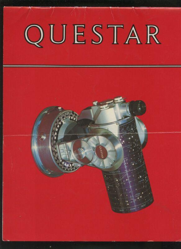 1977 24 page illustrated Questar Telescope Brochure & spec sheet for Questar 700