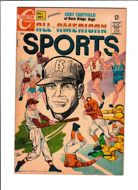 """ALL-AMERICAN SPORTS #1  [1967 VG+]  """"A LIFE & DEATH DECISION"""""""