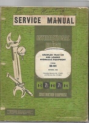 Ih International Hough Crawler Tractor Hydraulics Service Repair Manual