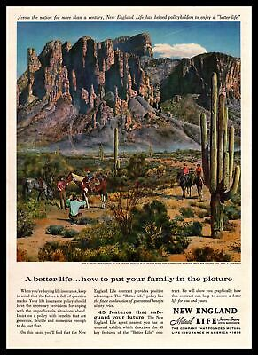 1960 New England Mutual Life Insurance Superstition Mountain In Arizona Print Ad
