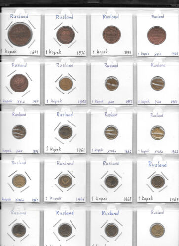 RUSSIA LOT OF 113 COINS 1 KOPEK - 3 KOPEKS 1841 - 2009 AA1