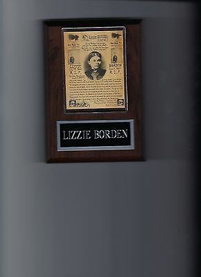 LIZZIE BORDEN WANTED POSTER PLAQUE MASS SOCIALITE ACCUSED AXE MURDERER CRIME