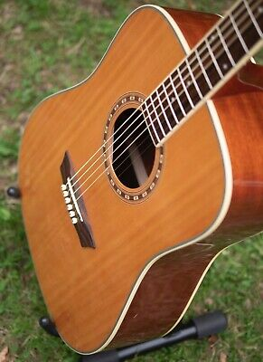 Washburn WD7s Acoustic guitar Natural ex++